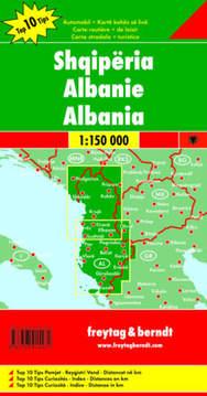 Mapa samochodowa - Albanien 1:150 000