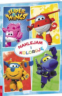 Super Wings. Naklejam i koloruję