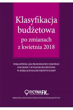 Klasyfikacja budżetowa po zmianach z kwietnia 2018