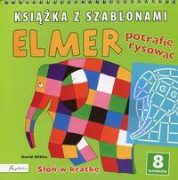 Książka z szablonami. Elmer. Słoń w kratkę