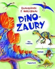 Łamigłówki z naklejkami Dinozaury