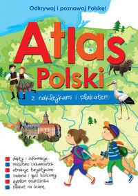Atlas Polski z naklejkami i plakatem