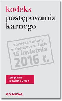 Kodeks postępowania karnego 04/2016