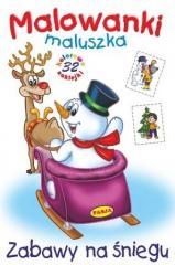 Malowanki maluszka - Zabawy na śniegu