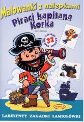 Malowanki z nalepkami. Piraci kapitana Korka