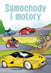 Samochody i motory - kolorowanka edukacyjna