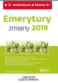 Emerytury - zmiany 2019