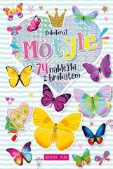 Kolorowanka z naklejkami - Motyle
