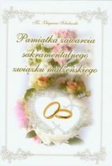 Pamiątka zawarcia sakramentalnego związku małżeń.