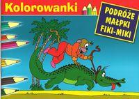 Malowanka - Podróże małpki Fiki-Miki. Krokodyl G&P