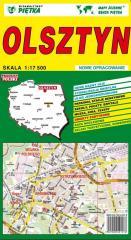 Olsztyn 1:17 500 plan miasta PIĘTKA