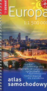 Atlas samochodowy - Europa 1: 1 500 000 DEMART