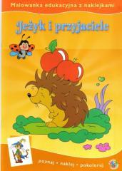 Malowanki edukacyjne - Jeżyk i przyjaciele