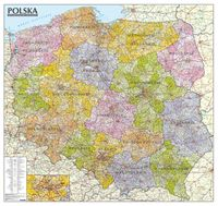Polska. Mapa administracyjno-samochodowa (ścienna)