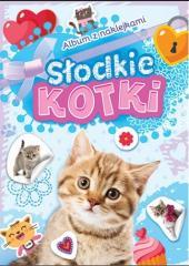 Album z naklejkami. Słodkie kotki