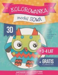 Kolorowanka 3D Model Sowa + flamastry gratis MAC