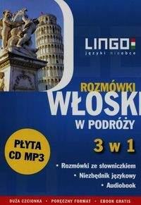 Włoski w podróży Rozmówki 3 w 1   CD