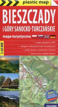 Plastic map Biesz.i Góry Sanocko-Turcz.mapa