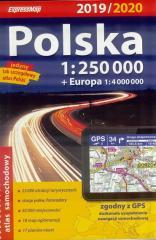 Atlas samochodowy Polska 1:250 000 2019/2020