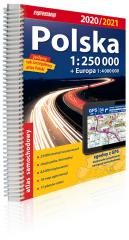 Atlas samochodowy Polska 1:250 000 w.2020/2021