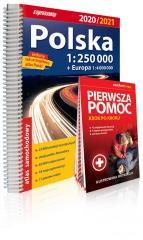 Atlas samochodowy Polska 1:250 000 w.2020/2021+ PP