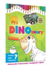 Dinozaury-ciekawostki, kolorowanki, łamigłówki...