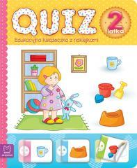 Quiz 2-latka. Edukacyjna książeczka z naklejkami