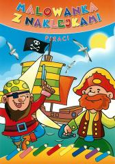 Malowanka z naklejkami. Piraci