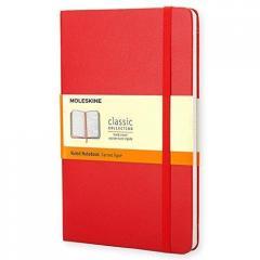 Notes Classic 9x14 tw. linia- czerwony MOLESKINE