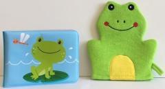 Książeczka kąpielowa z myjką - żabka